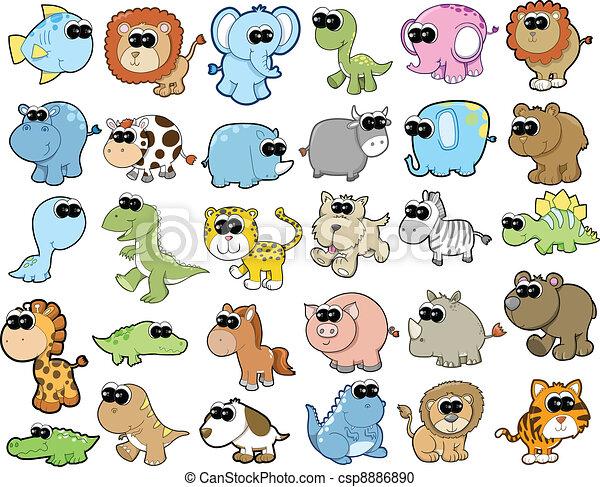 Bonito safari de animales salvajes - csp8886890