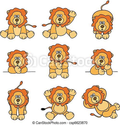 Lindo conjunto de leones - csp6623870
