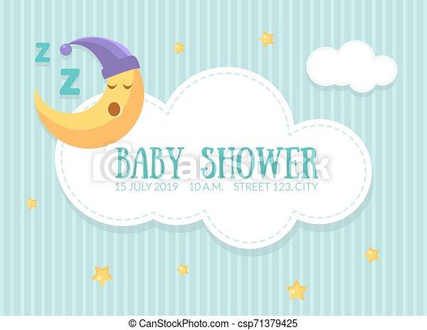 La Plantilla De Invitación Para El Baby Shower Una Linda