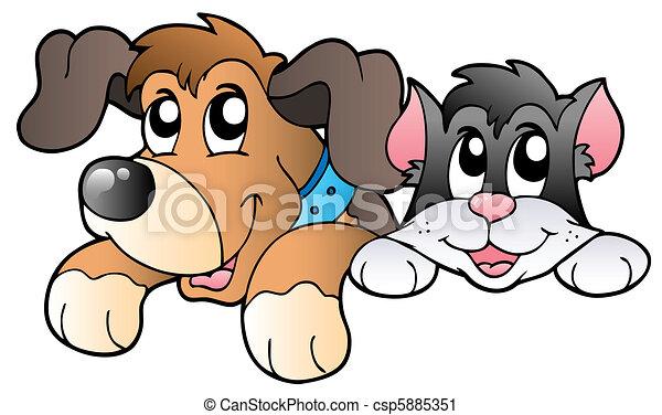 Bonitas mascotas al acecho - csp5885351