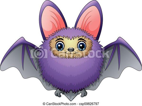 Lindos dibujos animados de murciélagos volando - csp59826797