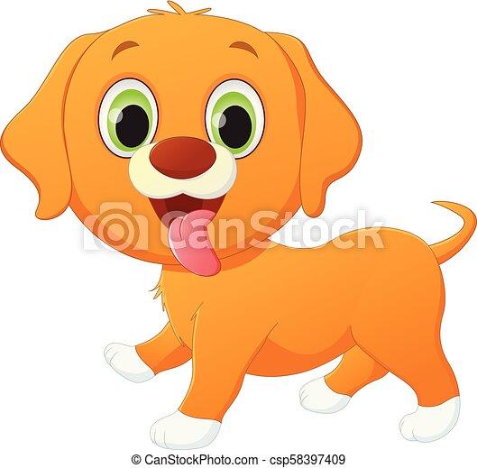 Lindo dibujo de perro - csp58397409