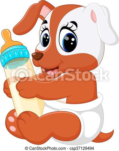 Lindo dibujo de perro - csp37129494