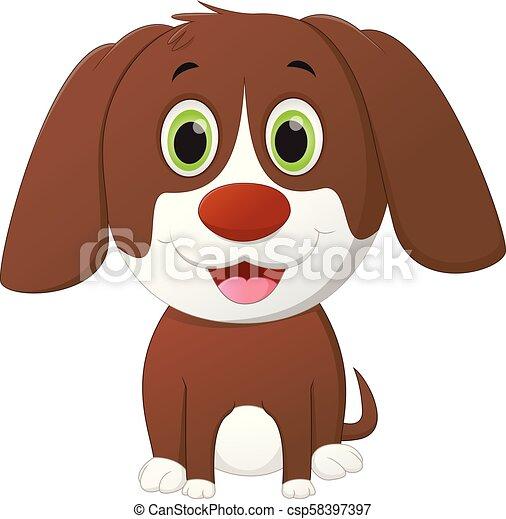 Lindo dibujo de perro - csp58397397