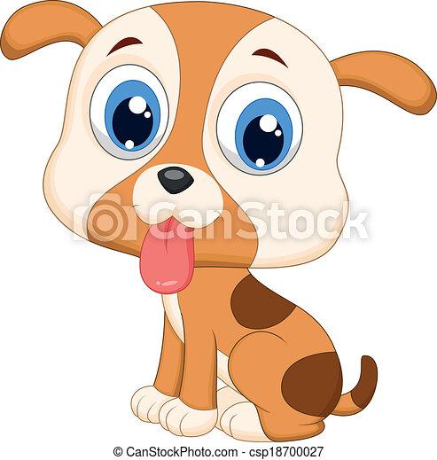 Lindo dibujo de perro - csp18700027