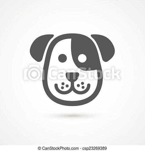 Lindo icono de perro. Elemento vectorial para el diseño - csp23269389