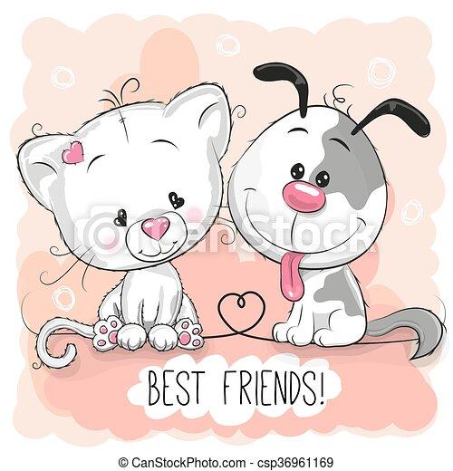 Lindo gato y perro - csp36961169
