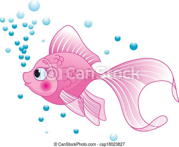 lindo, pez - csp18023827