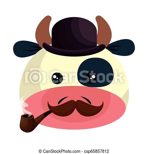 Lindo personaje de vaca - csp65857812