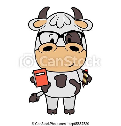 Lindo personaje de vaca - csp65857530