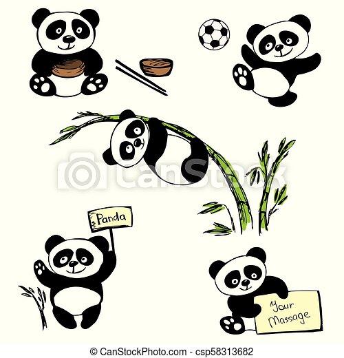 Linda panda - csp58313682