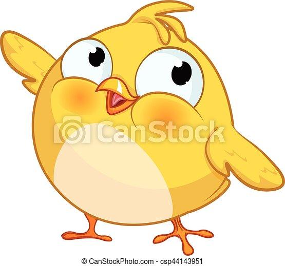 Linda chica amarilla - csp44143951