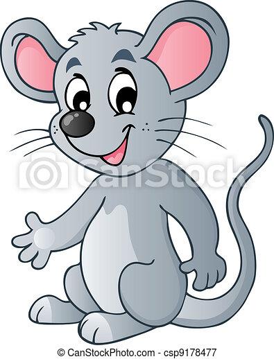 Lindo ratón de dibujos animados - csp9178477