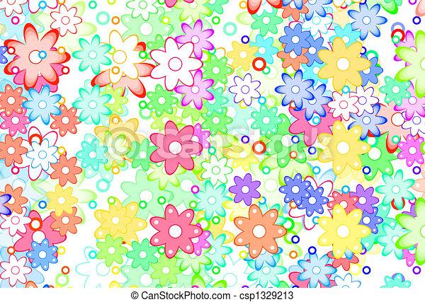 Dibujos de lindo resumen flores primavera  Cute Cartoon Art