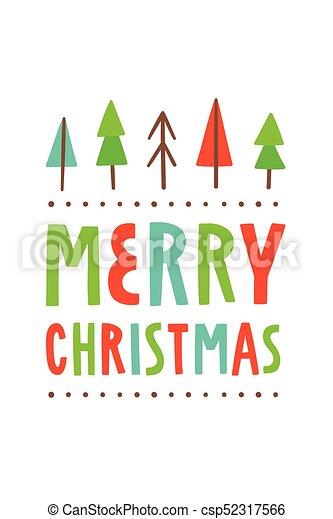Vector feliz Navidad. Linda tarjeta de felicitación - csp52317566