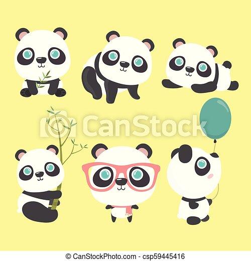 Lindo panda. - csp59445416