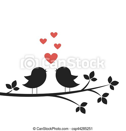 Las siluetas cantan en el amor - csp44285251