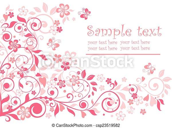 Linda tarjeta de felicitación - csp23519582