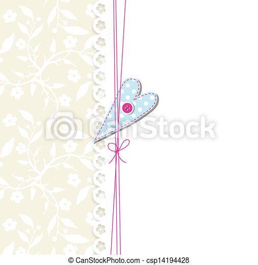 Linda tarjeta de felicitación - csp14194428