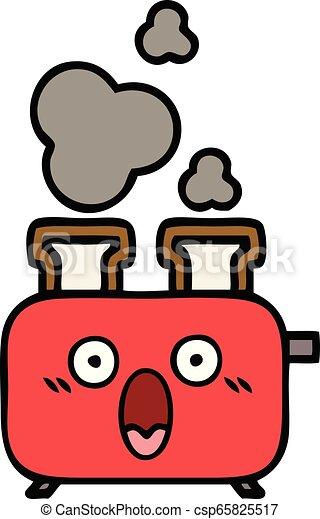Lindo dibujo de una tostadora - csp65825517