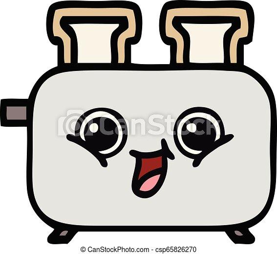 Lindo dibujo de una tostadora - csp65826270