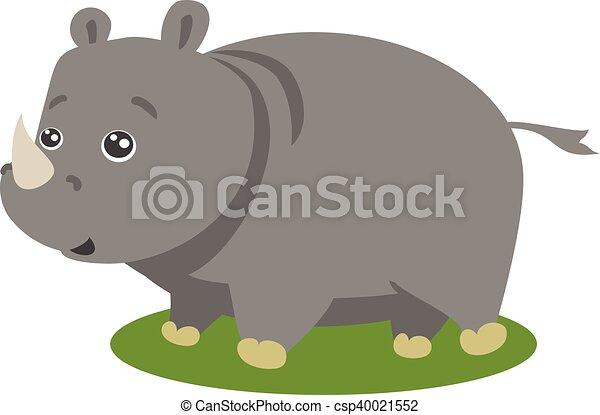 Lindo vector de rinoceronte safari aislado - csp40021552