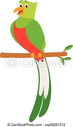 Lindo Vector Caricatura Ilustracion Quetzal