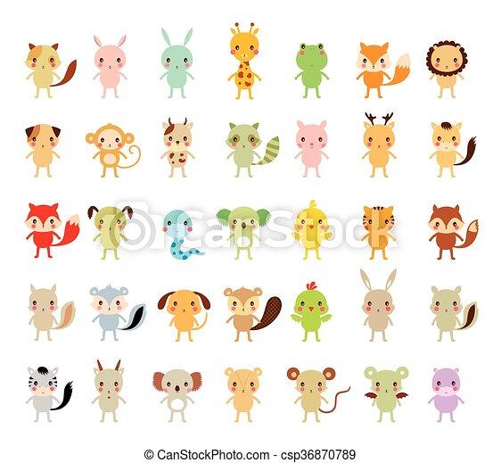 Lindo vector animal listo - csp36870789