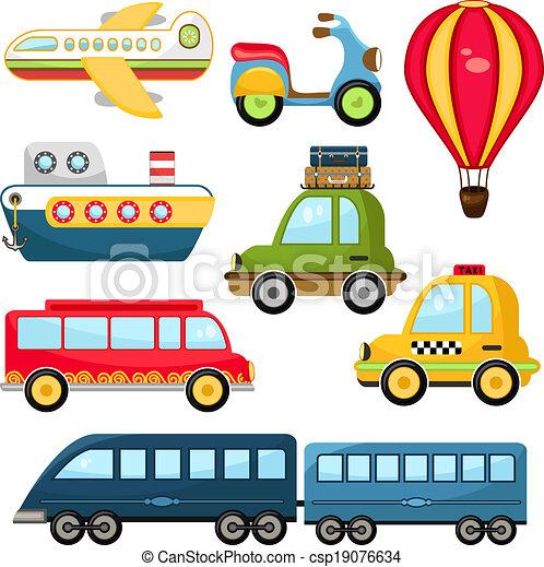 lindo, vector, transporte - csp19076634