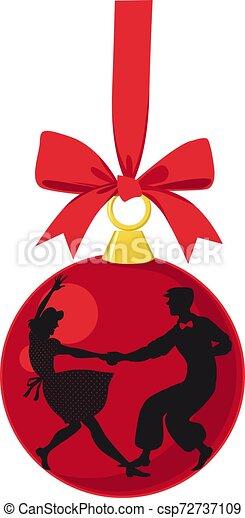 Lindy hop Christmas decoration - csp72737109