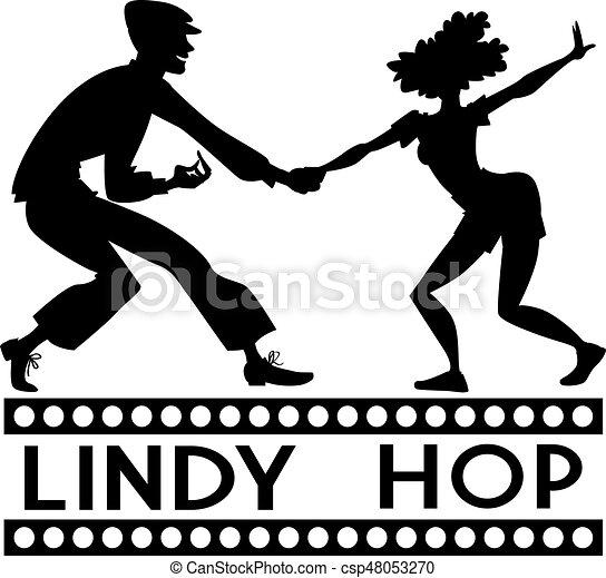 Lindy Hop clip-art - csp48053270