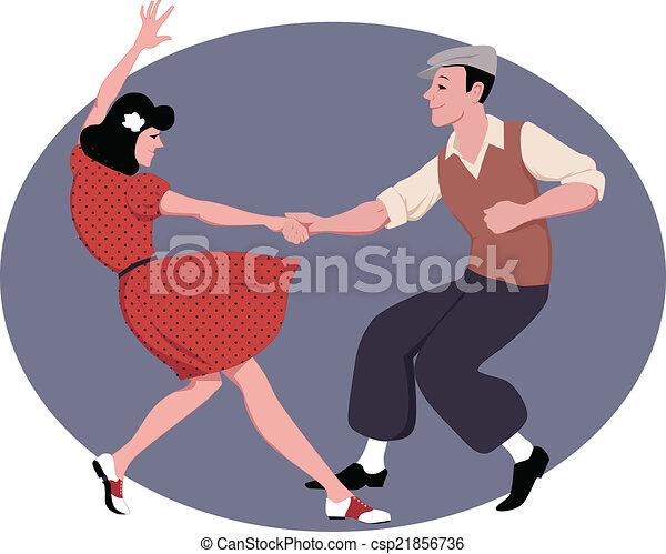 Lindy Hop dancing - csp21856736