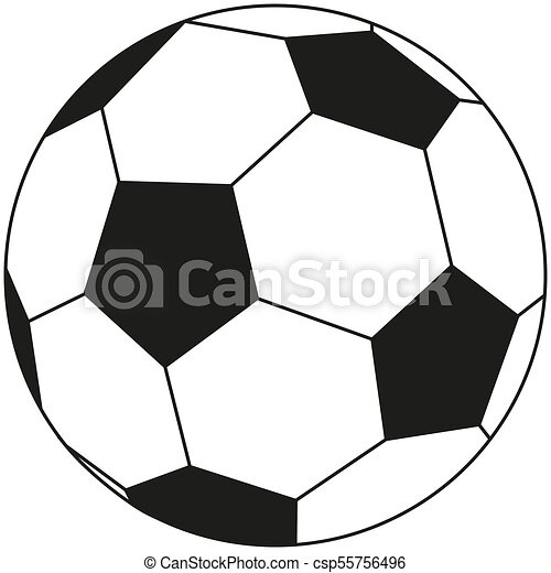 line art black and white soccer ball icon. line art black and white soccer  football ball icon poster. sport vector | canstock  can stock photo