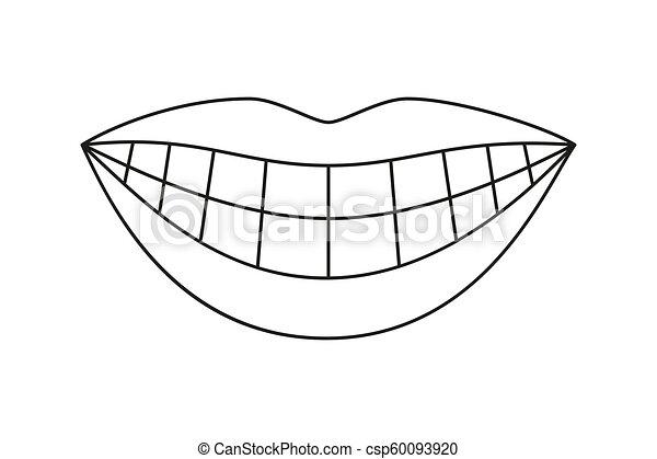 Teeth Tongue Stock Illustrations, Cliparts And Royalty Free Teeth Tongue  Vectors