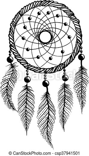 line art of a dreamcatcher drawing of a dreamcatcher with