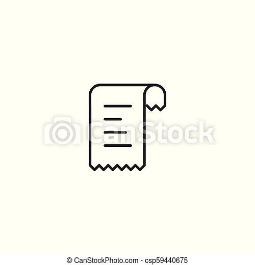 line bill receipt icon on white background - csp59440675