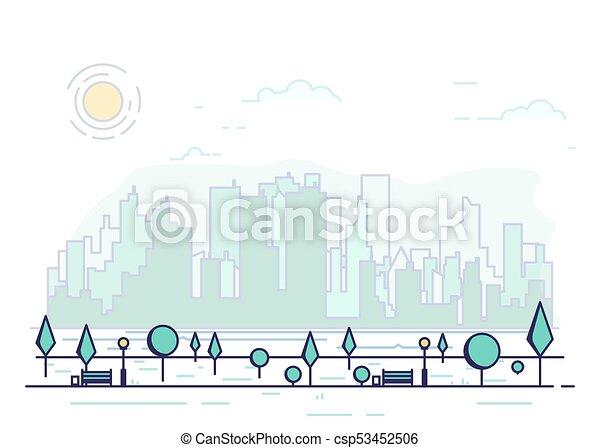 Line city park - csp53452506