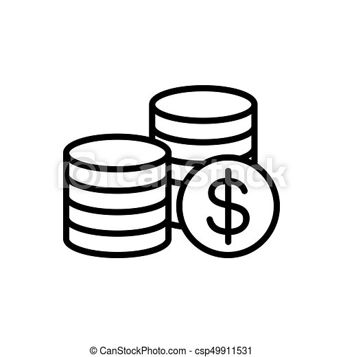 Thin line coins icon on white background line coins icon on white background csp49911531 ccuart Gallery