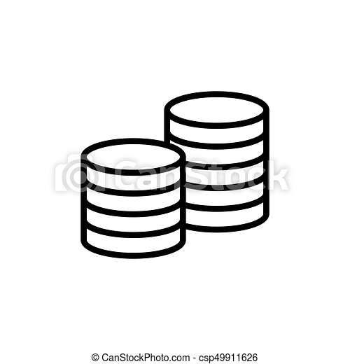 Thin line coins icon on white background vector illustration line coins icon on white background csp49911626 ccuart Gallery