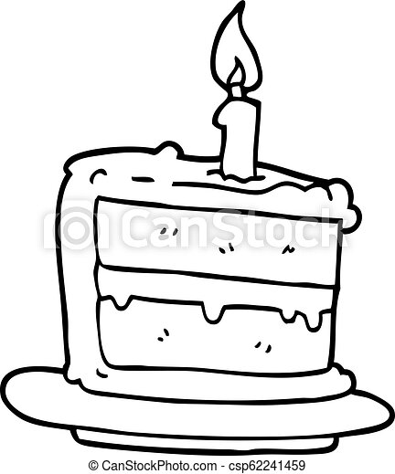Astounding Line Drawing Cartoon Birthday Cake Funny Birthday Cards Online Hendilapandamsfinfo