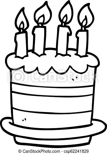 Awesome Line Drawing Cartoon Birthday Cake Funny Birthday Cards Online Alyptdamsfinfo
