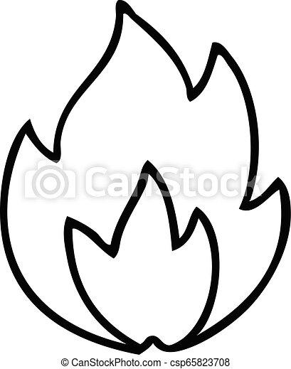 Line Drawing Cartoon Fire Line Drawing Cartoon Of A Fire