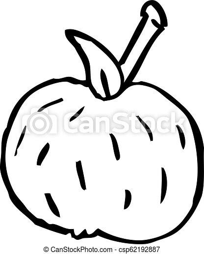 Line Drawing Cartoon Organic Orange