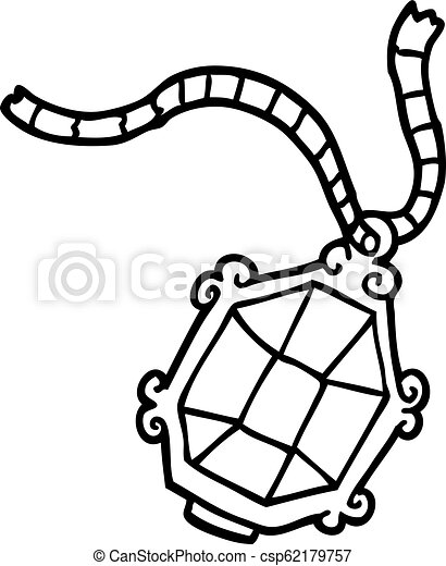Line Drawing Cartoon Ruby Necklace