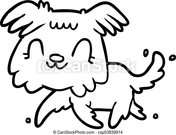Line Drawing Of A Little Dog