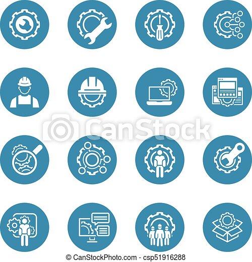 Line Engineering Icons Simple Set Of Engineering Flat Line Icons