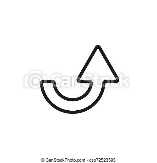 Line icon- arrow on white background. Illustration eps10 - csp72523593