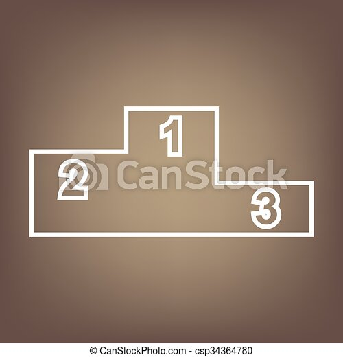 Line icon on the brown background - csp34364780