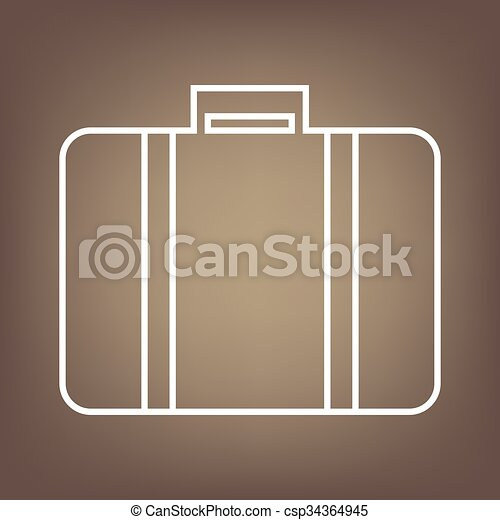 Line icon on the brown background - csp34364945