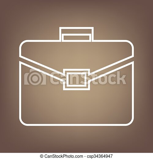 Line icon on the brown background - csp34364947